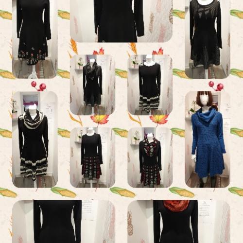 Robe hiver  lainage manche longue col amovible à porter en toute occasion